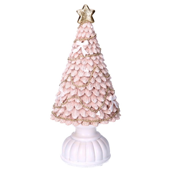 Albero resina rosa cm 26