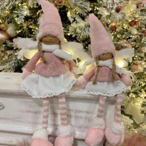 Angeli rosa con luci