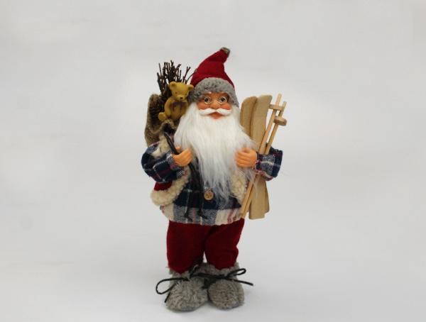 Babbo Natale con sci cm 30