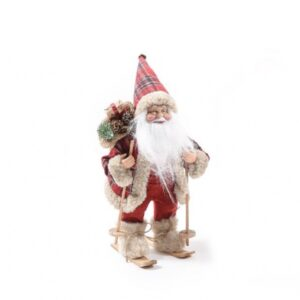 Babbo Natale sciatore h cm 30