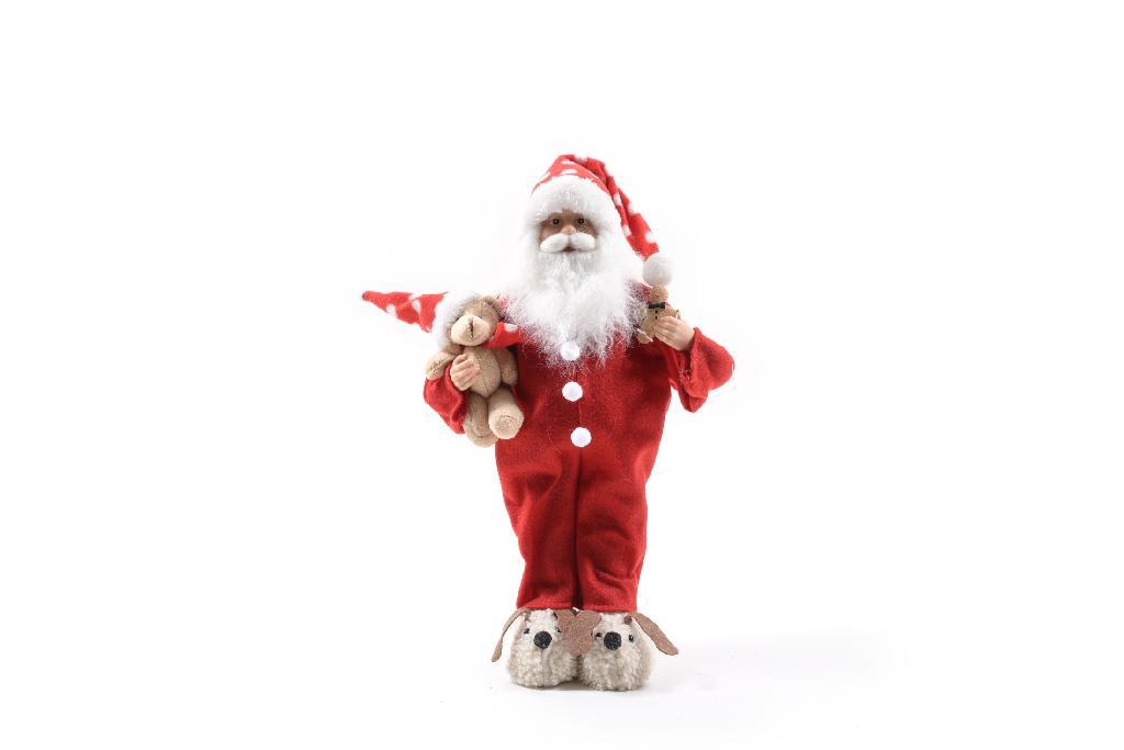 Babbi Natale.Babbo Natale Rosso Con Pigiama Cm 45 L Emporio Del Natale