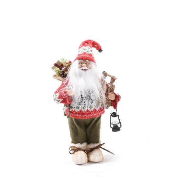 Babbi Natale.Babbo Natale Montanaro H Cm 30 L Emporio Del Natale