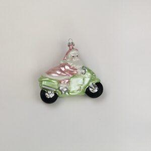 Babbo natale rosa su moto cm9