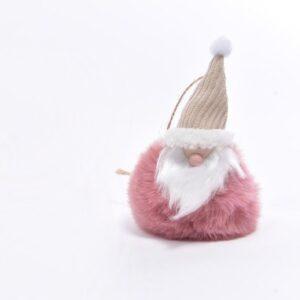 Babbo Natale su sfera rosa