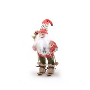 Babbo Natale sciatore cm 30