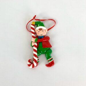Decorazione elfo natalizio in clay