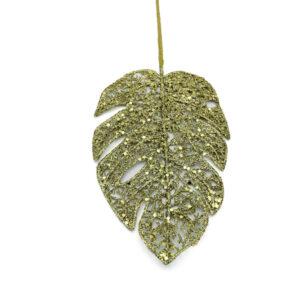 Foglia oro glitter cm 36