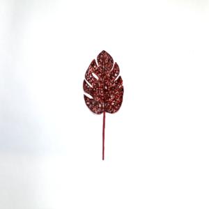Pick foglia rossa cm 34