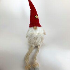 Babbo Natale con pelliccia chiara cm 23