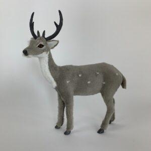 Cerbiatto natalizio grigio cm 27