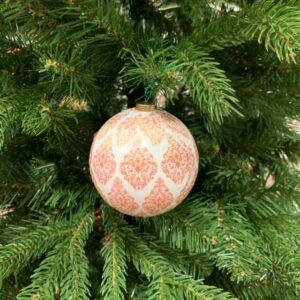sfera decorata da appendere diametro 8 cm