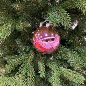 Sfera rosa lucida in plastica, diametro cm 8