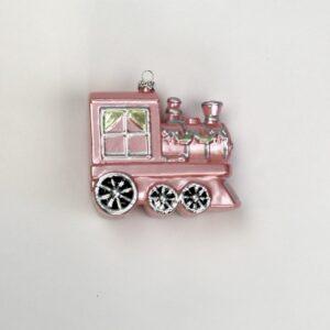 Trenino rosa da appendere cm 9