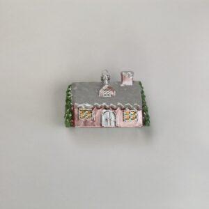 Casetta rosa da appendere cm 7