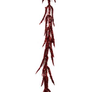 tralcio rosso glitter cm 80